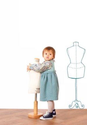 画像4: 【SALE!!30%OFF!!】 Je suis en CP!(ジュスィザンセーペー) 2M Dressチューリップシルエットドレス(ミントグリーン) 12か月2歳4歳