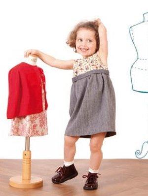 画像5: 【SALE!!30%OFF!!】 Je suis en CP!(ジュスィザンセーペー) 2M Dressチューリップシルエットドレス(リバティ×ヘリンボーン) 12か月2歳
