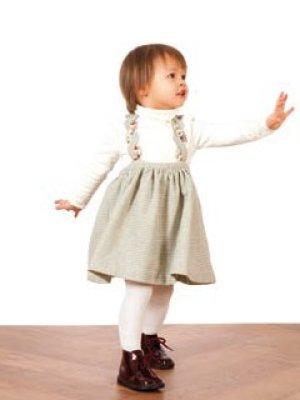 画像4: 【SALE!!30%OFF!!】 Je suis en CP!(ジュスィザンセーペー) TwistDressサスペンダー付きスカート(ダークグレー) 12か月4歳