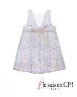 【SALE!!30%OFF!!】 Je suis en CP!(ジュスィザンセーペー) Lucile Dressルシルドレス(リバティプリント スプリング・シルエット Spring Silhouette) 8歳10歳