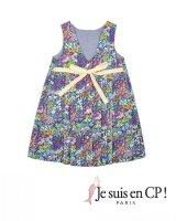 【SALE!!30%OFF!!】 Je suis en CP!(ジュスィザンセーペー) Lucile Dressルシルドレス(リバティプリント スモール・ペインターズ・メドーSmall Painter's Medow) 8歳122-128cm