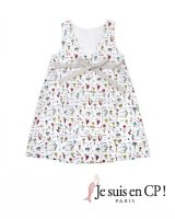 【SALE!!30%OFF!!】 Je suis en CP!(ジュスィザンセーペー) Lucile Dressルシルドレス(オリジナルプリント) 2歳82-86cm