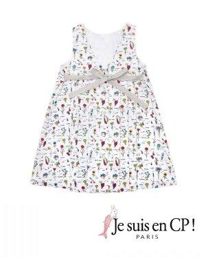 画像1: 【SALE!!30%OFF!!】 Je suis en CP!(ジュスィザンセーペー) Lucile Dressルシルドレス(オリジナルプリント) 6歳109-114cm