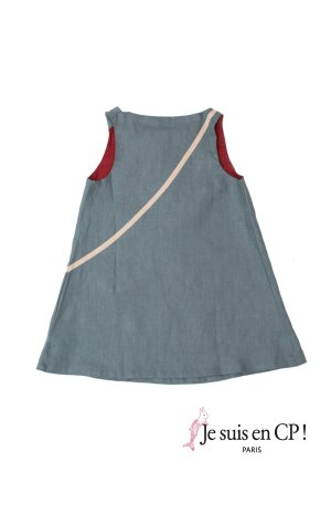 画像2: 【SALE!!30%OFF!!】 Je suis en CP!(ジュスィザンセーペー) Like Mummy Dressライクマミードレス(リバティプリント Land of Dreamsランド・オブ・ドリームズ) 2歳82-88cm