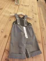 【SALE!!30%OFF!!】 Je suis en CP!(ジュスィザンセーペー) Grand father dungareeボーイズオーバーオール(ブラウン) 12か月68-74cm