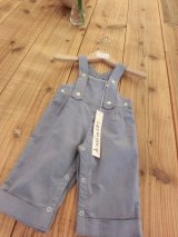 【SALE!!30%OFF!!】 Je suis en CP!(ジュスィザンセーペー) Grand father dungareeボーイズオーバーオール(ブルーグレー) 12か月2歳