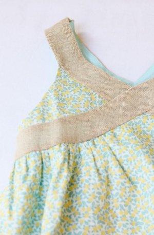 画像2: 【SALE!!30%OFF!!】 Je suis en CP!(ジュスィザンセーペー) Strap Dressストラップドレス(レモンツリー) 2歳4歳