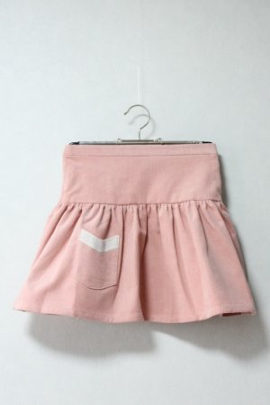画像2: 【SALE!!30%OFF!!】 Je suis en CP!(ジュスィザンセーペー) PocketSkirtポケットスカート(ピンクコーデュローイ) 12か月3歳