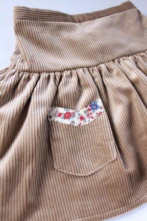 画像2: 【SALE!!30%OFF!!】 Je suis en CP!(ジュスィザンセーペー) PocketSkirtポケットスカート(ハニーコーデュローイ) 12か月