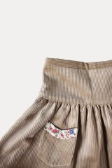 【SALE!!30%OFF!!】 Je suis en CP!(ジュスィザンセーペー) PocketSkirtポケットスカート(ハニーコーデュローイ) 12か月
