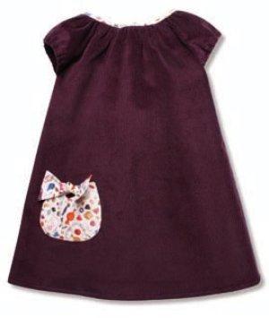 画像5: 【SALE!!30%OFF!!】 Je suis en CP!(ジュスィザンセーペー) Drop Dressドロップドレス(ブラウン×リバティプリント) 2歳6歳
