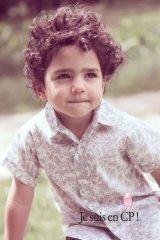 【SALE!!50%OFF!!】 Je suis en CP!(ジュスィザンセーペー) Classic Shirtボーイズ半袖歳クラシックシャツ(リバティプリント ボーダシアBoadicea) 2歳4歳6歳