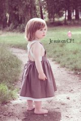 【SALE!!50%OFF!!】 Je suis en CP!(ジュスィザンセーペー) Link Dressリンクドレス(チャコールブラウン) 18か月3歳