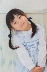 リボン刺繍の1年中使えるスモッキングワンピース(オックスフォード) 2歳3歳7歳8歳