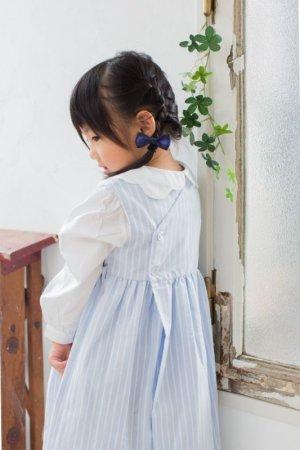 画像4: リボン刺繍の1年中使えるスモッキングワンピース(オックスフォード) 2歳〜8歳