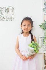 【JiJiオリジナル】スモッキング刺繍ジャンパースカート/サマードレス(ペールピンク) 6歳115-120cm