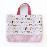 レッスンバッグ(基本サイズ) 動物プリント 通園バッグ・絵本バッグ・手提げ袋