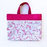 レッスンバッグ(基本サイズ) バレエシューズプリント 通園バッグ・絵本バッグ・手提げ袋