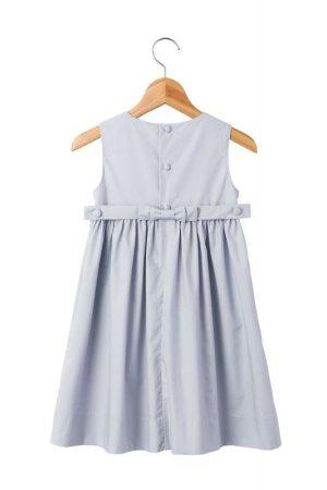 画像2: 【JiJiオリジナル】 スモッキングワンピース/ジャンパースカート(ペールグレー) 2歳3歳4歳
