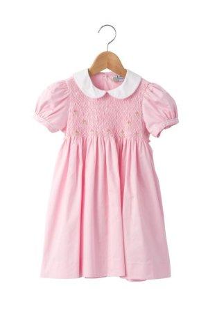 画像1: 【JiJiオリジナル】半袖スモッキングワンピース(ピンク)2歳4歳6歳