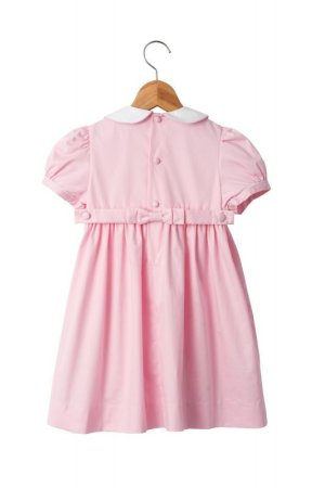 画像2: 【JiJiオリジナル】半袖スモッキングワンピース(ピンク)2歳4歳6歳