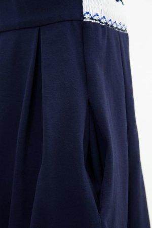 画像4: 【JiJiオリジナル】 テリアスモッキングジャンパースカート (ネイビージャージ) 2歳-8歳