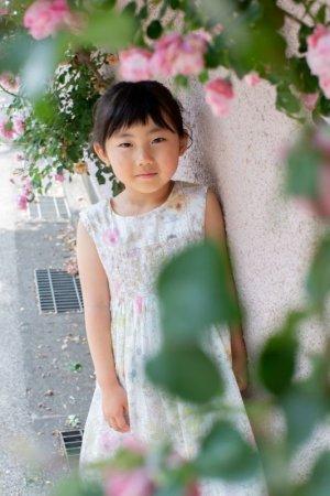 画像2: 【JiJiオリジナル】リバティプリント スモッキングワンピース (Irmaイルマ)2歳-8歳