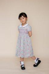【JiJiオリジナル】リバティプリント スモッキングワンピース (Tomトム) 5歳-8歳