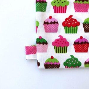 画像3: 体操服入れバッグ(基本サイズ) レッドチェックカップケーキプリント