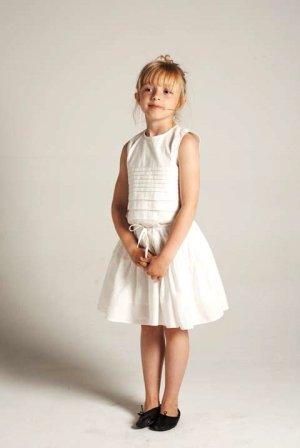 画像4: 【SALE!!40%OFF!!】 LIHO London(リホロンドン)  GINAリネン混フレアワンピース(オレンジ) 3歳8歳
