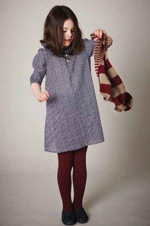 画像1: 【SALE!!30%OFF!!】 LIHO London(リホロンドン)  ANASTASIA小花柄ワンピース(ネイビースモールフラワー) 4歳6歳