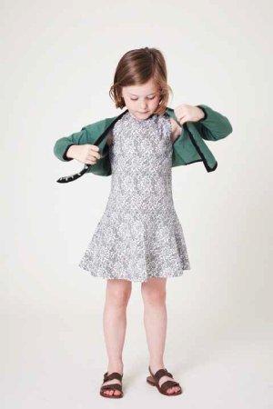 画像5: 【SALE!!40%OFF!!】 LIHO London(リホロンドン)  HANNA裾フレアワンピース(レースプリント) 6歳115cm