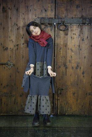 画像1: La Bottega di Giorgia(ラ・ボッテガ・ディ・ジョルジア)BOSS異素材ミックスワンピースチュニック 6歳8歳