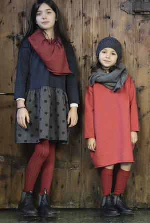 画像2: La Bottega di Giorgia(ラ・ボッテガ・ディ・ジョルジア)BOSS異素材ミックスワンピースチュニック 6歳8歳