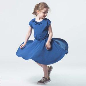 画像1: 【SALE!!30%OFF!!】 LiLi gaufrette(リリゴーフレット) LIA Dressジャージ素材ワンピース(コバルトブルー) 4歳104cm