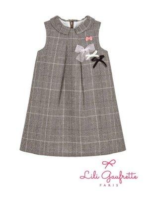 画像1: 【SALE!!30%OFF!!】 LiLi gaufrette(リリゴーフレット) LIVANA DressツイードAラインワンピース2歳4歳