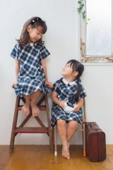 Malvi&Co.(マルヴィ) 付け襟チェックワンピース 4歳6歳