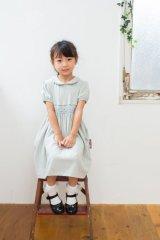 Malvi&Co.(マルヴィ) ジャージ素材 幾何学スモッキングワンピース(グレー) 3歳4歳6歳