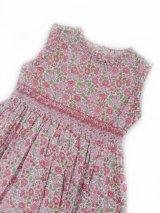 Malvi&Co.(マルヴィ) 大きな花柄スモッキングワンピース(ピンク) 4歳〜10歳