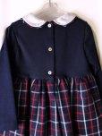 画像3: Isi(イシィ)<br>バイカラー長袖ワンピース(ネイビーチェック)<br>4歳104cm (3)