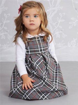 画像1: Isi(イシィ) 秋冬ジャンパースカート(グレーチェック) 2歳3歳4歳