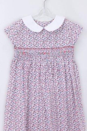 画像2: Isi(イシィ) 襟付き小花柄スモッキングワンピース 18か月〜4歳