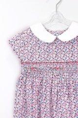 Isi(イシィ) 襟付き小花柄スモッキングワンピース 18か月〜4歳