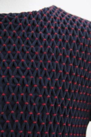画像4: Malvi&Co.(マルヴィ) 秋冬ジャージ素材スモッキングワンピース(半袖ネイビー) 6歳116cm