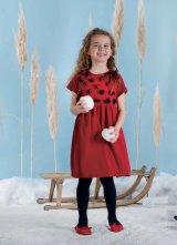 Malvi&Co.(マルヴィ) お花フォーマルワンピース(レッド) 4歳6歳