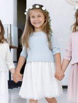 Malvi&Co.(マルヴィ) チュールドレス(ペールブルー) 3歳4歳6歳