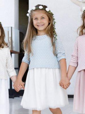 画像1: Malvi&Co.(マルヴィ) チュールドレス(ペールブルー) 3歳4歳6歳8歳