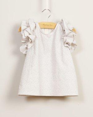 画像2: 【SALE!!30%OFF!!】 Marilyn Tov(マリリントブ)  Victorine フリルトップス(パープルリバティ) 3/4歳 7/8歳
