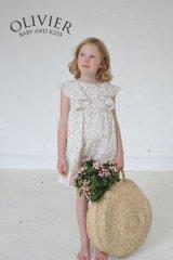 Olivier(オリビエ) AMBERLILY アンバーリリー サマードレス (リバティプリント Theo Pale Pink Linen セオペールピンク) 4-5歳