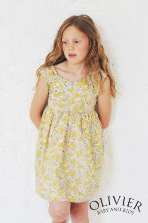画像1: Olivier(オリビエ) ISABELLAイザベラ エプロンワンピース (リバティプリント Swirling Petals スワイリング・ペタルス) 4歳〜8歳